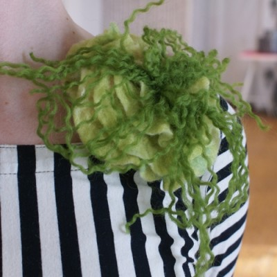 Hårklämma/brosch Ljusgrön
