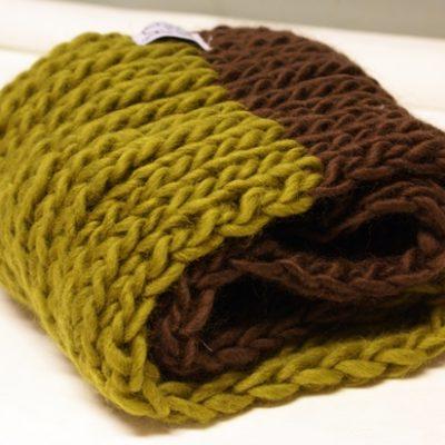 Tubhalsduk, brun/grön