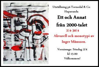 Utställning i april
